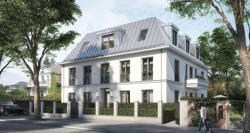 Bauprojekt Auguste-Viktoria-Straße Berlin Fliesendesign