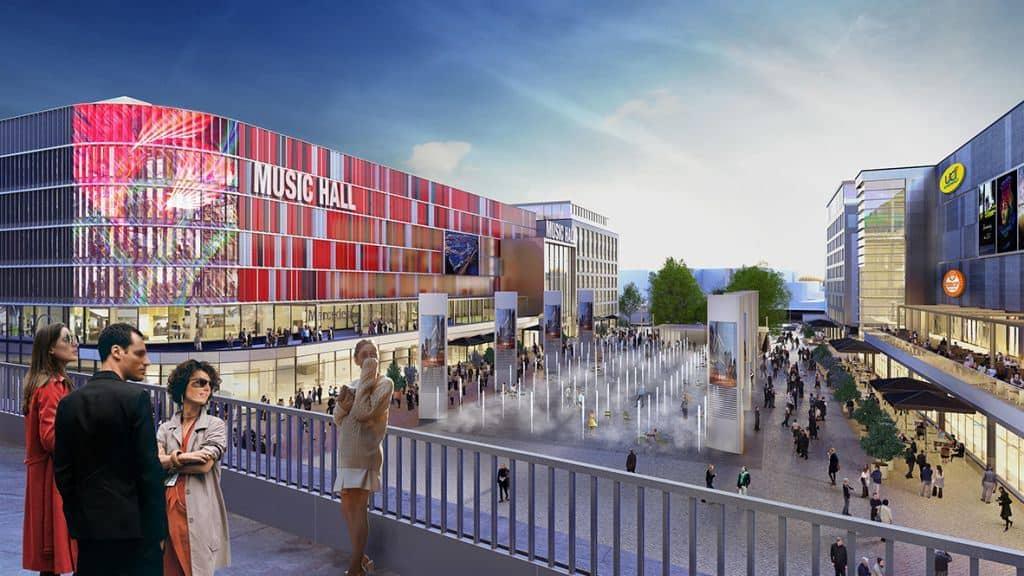 Bauprojekt Mercedes Platz Berlin Fliesendesign