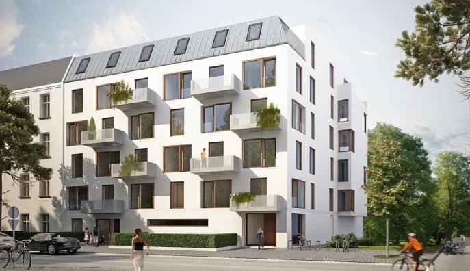 Fassade Spittastraße 2 - Berlin Fliesendesign BFD